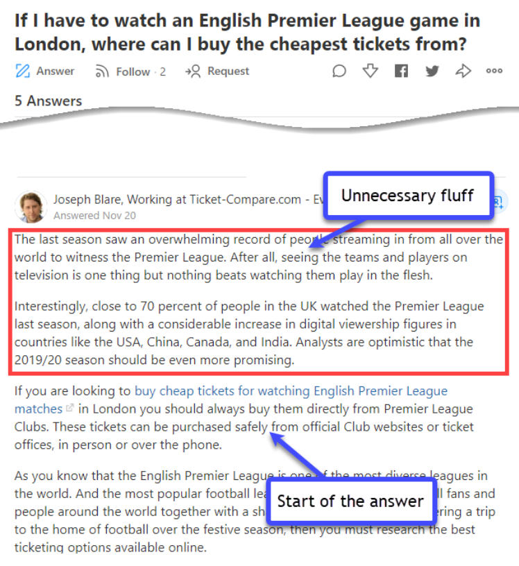 Rambling on Quora answers