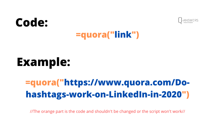 Structure of a link to trigger the script