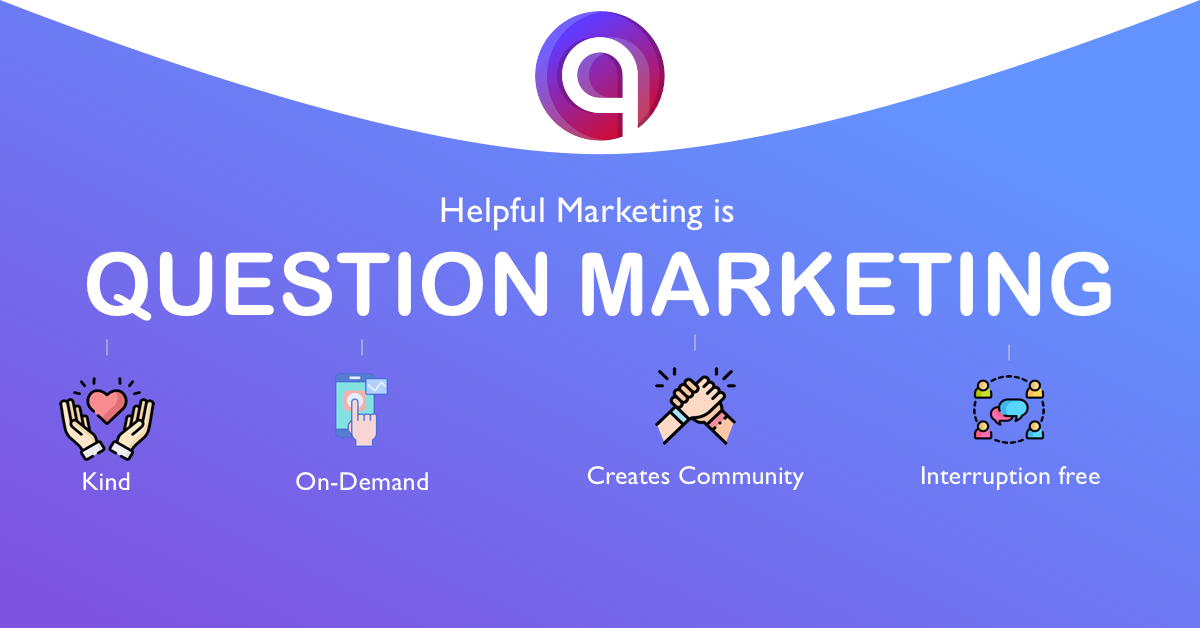 Question Marketing is Helpful Marketing: Here's Why You Should Care.
